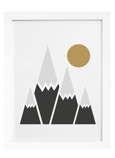 Nordbagen Winter Sun Poster Beyaz
